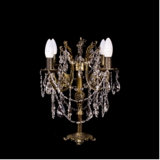 Настольная лампа бронзовая (4 ламп)